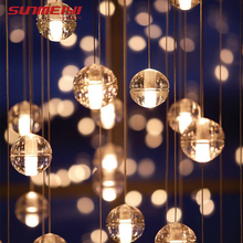 hot deal buy led chandeliers lights loft coffee bedroom lighting lustres e chandeliers para sala de jantar modern glass pendant lamps