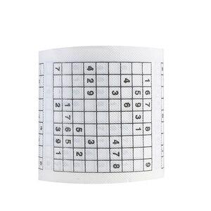 1 рулон, 2 слоя, модная новинка, Забавный номер, Sudoku, с принтом WC, для ванной, забавная туалетная бумага, салфетки, принадлежности для ванной ко...