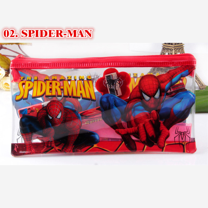 Aliexpress.com : Buy Anime Stationery Pencil Bag Spiderman Princess Cartoon  Zip Pvc Pen Storage Case Student Supplies Gift For Boy Girl Free Shipping  From ...