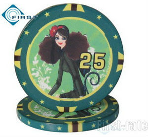 Shipping Free! Personalized Sex Girls Poker Chip Set Production  with Hot Transfer Printing