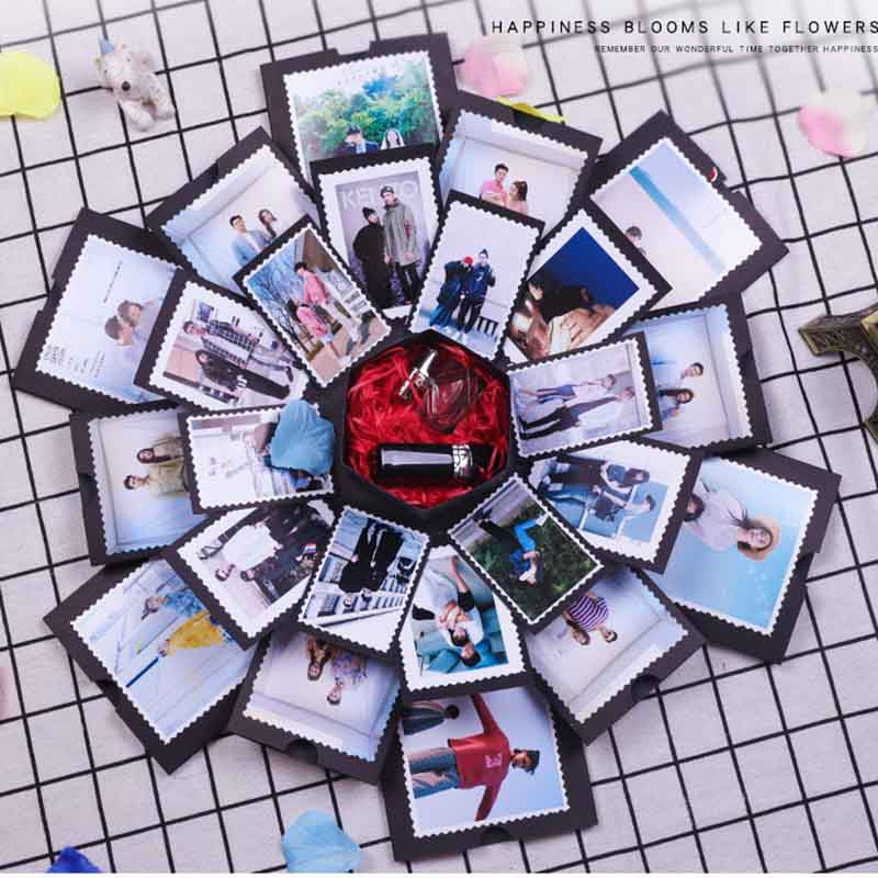 Ynaayu 1pcs Explosion Gift Box Creative Photo Album Surprise Gift Box DIY Photo Album Birhtday Valentine`s Wedding Gift For Par
