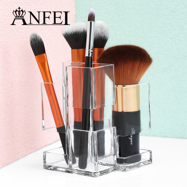 ANFEI Design Clear Acrylic Cosmetic Organizer Makeup Jewelry