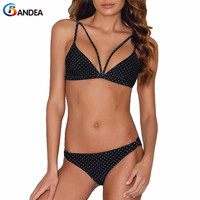 BANDEA Bikini Set Padded Bathing Suit 2018 Sexy Bandage Swimsuits Dots Swimwear Brazilian Bikini Women Micro