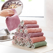 Kitchen Towel Cleaning Cloth Nonstick Oil Coral Velvet Microfiber Hanging Hand Towel Dishclout Washing Glasses Windows Car Floor 1pcs nonstick oil coral velvet hanging hand towels kitchen bathroom dishclout easy to clean wash cloth magic cleaning cloth