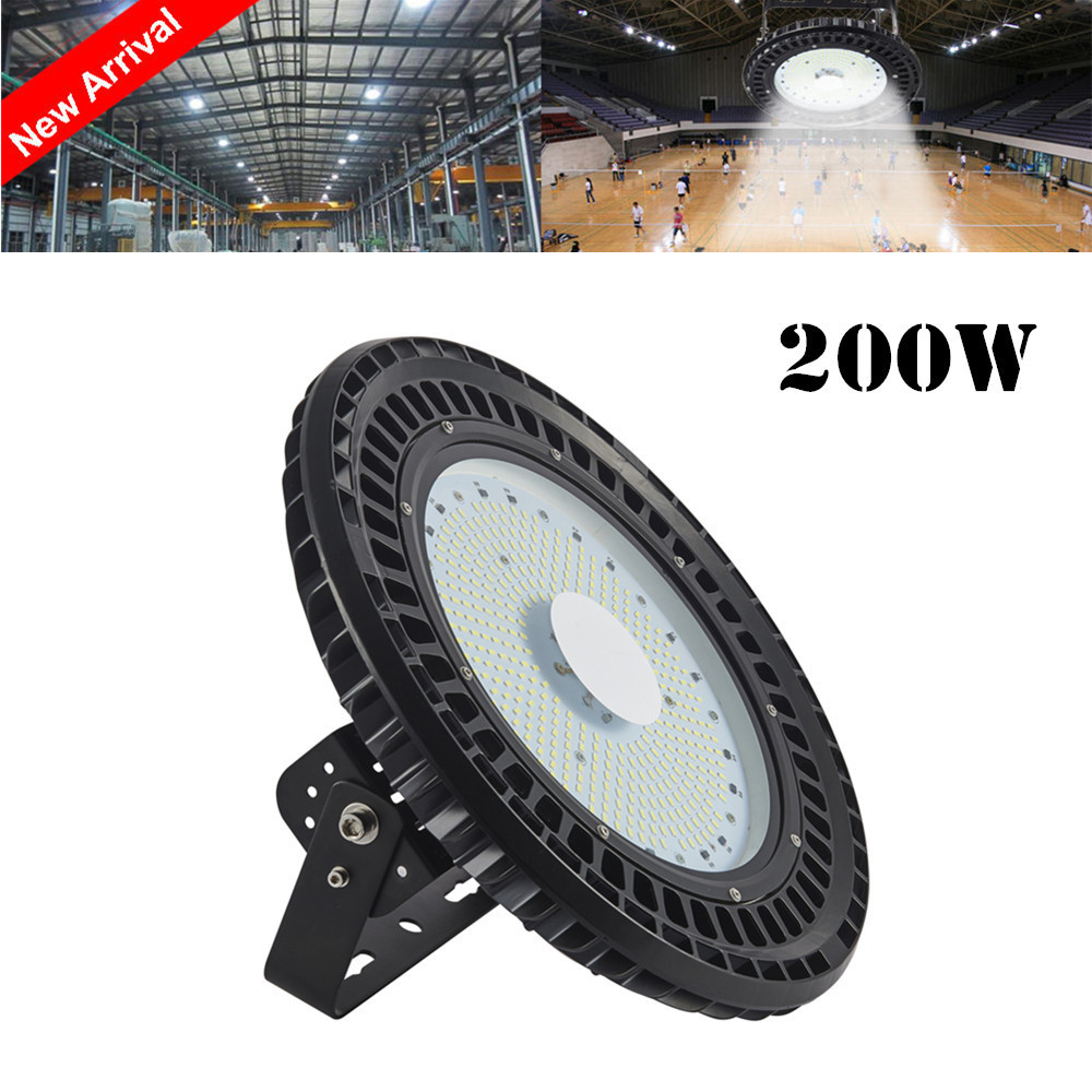 UFO High Bay Light 100W 150W 200W 250W Industrial Lighting 220V 6000K-6500K Ceiling LED Lamp For Gymnasium Warehouse Workshop brightinwd ufo high bay light 100w 150w 200w smd2835 high power led floodlight for factory warehouse machine lamp