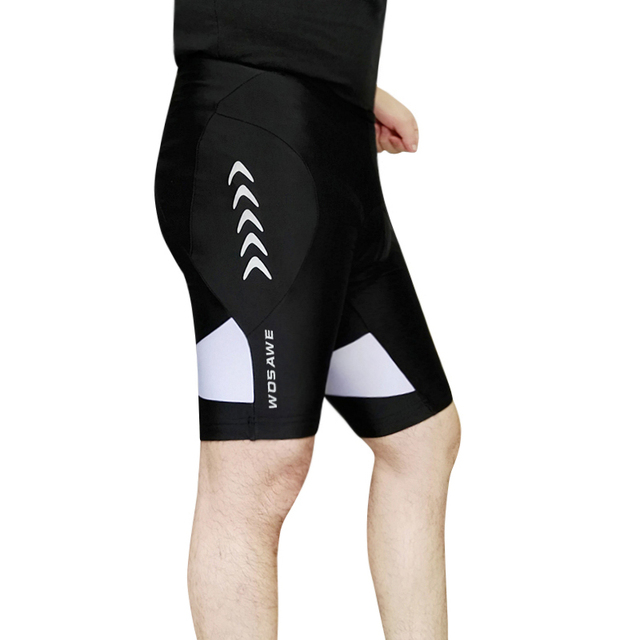WOSAWE Men s 3D Padded Cycling Shorts Shockproof MTB Road Bike Shorts  Reflective Bicycle Short Pants Bermuda Ciclismo Shorts 803ddc0be
