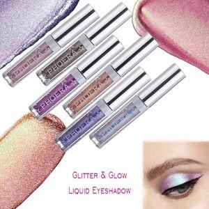 Image 2 - PHOERA 16Color Liquid Eye shadow Pencil Shimmer Eyeshadow Waterproof Long lasting Glitter Eyeshadow Eye Makeup Palette TSLM2
