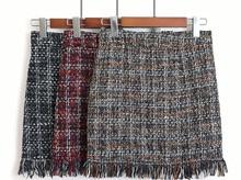 Vintage Woolen Mini Skirt 3 Colors