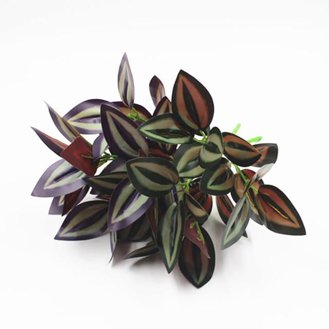 5 branches eyebrow shape red purple green grass simulation leaves Silk Plants and Flowers