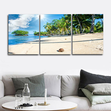 Laeacco Canvas Calligraphy Paintings on the Wall Artwork Tropical Palm Tree Beach Posters Prints Pictures Nordic Home Decoration