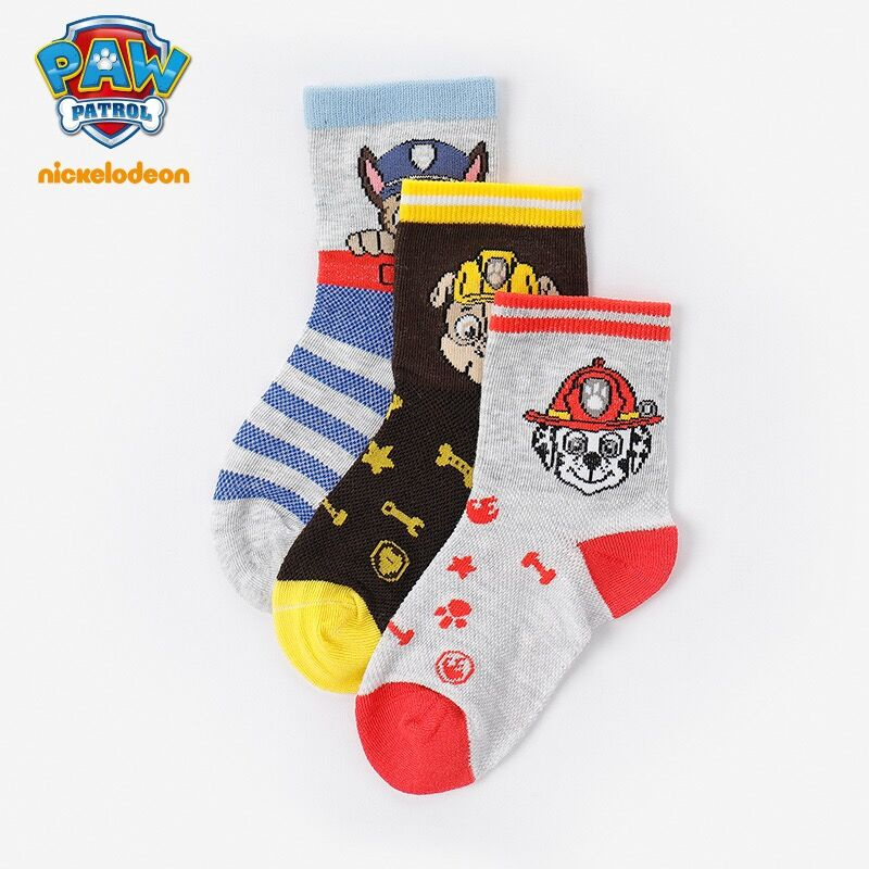 2pairs 2019 Genuine Paw Patrol chase marshall rubble Various Colors 13cm 15cm for age 3-9 years spring autumn socks for children2pairs 2019 Genuine Paw Patrol chase marshall rubble Various Colors 13cm 15cm for age 3-9 years spring autumn socks for children