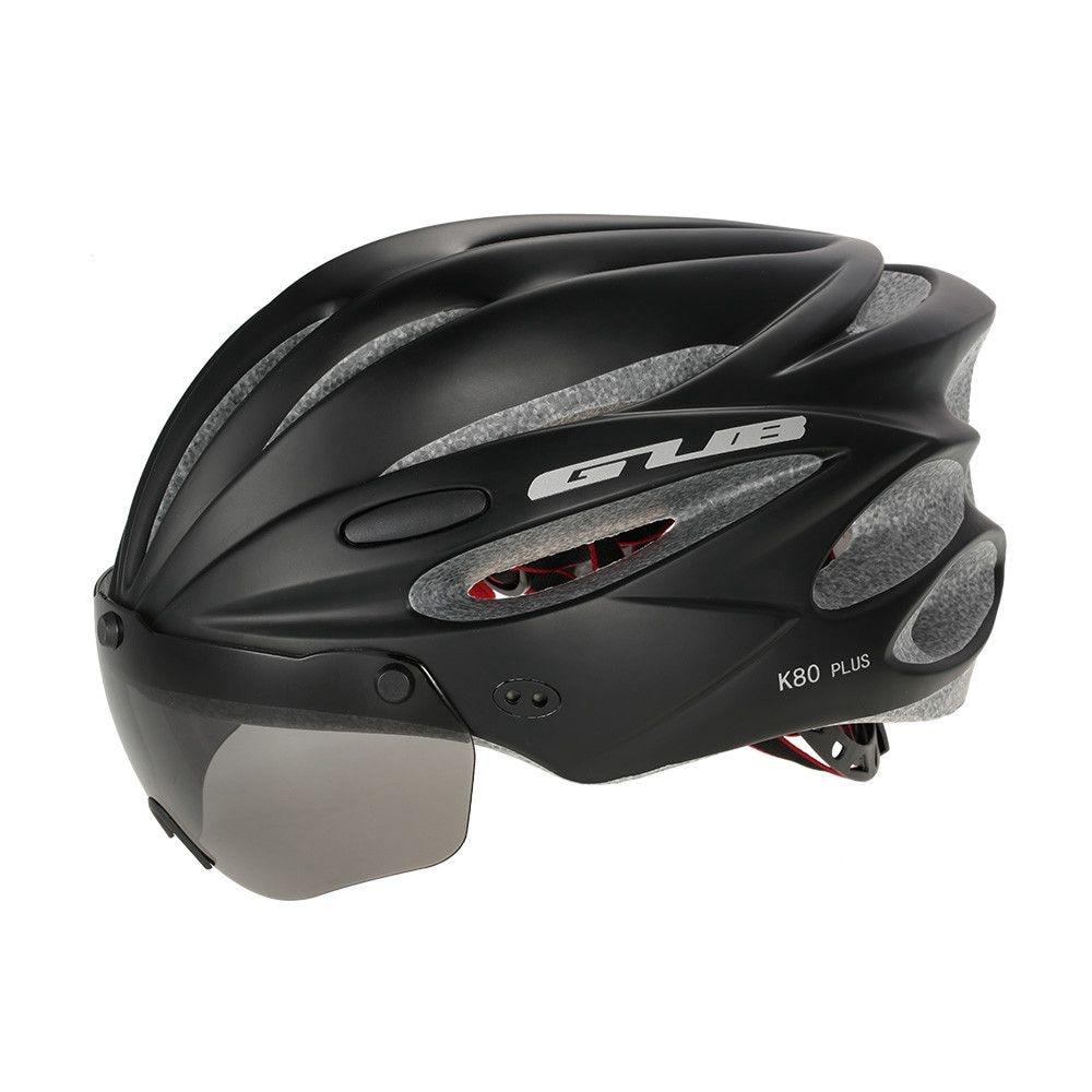 GUB Bicycle Helmet Bike Cycling Adult Adjustable Unisex Safety with Visor Len