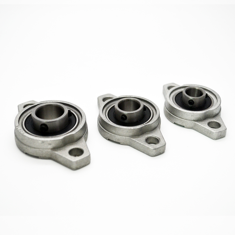 4 pcs 20mm KFL04 FL001 Pillow Block Bearing Flange Block Bearing Zinc Alloy high quality kfl004 pillow block flange ball bearing 20mm metal miniature bearing zinc alloy mechanical industry