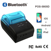 Zjiang 58mm Bluetooth Printer Thermal Printer Mini Portable Receipt Ticket Machine For Mobile Phone Android iOS Windows