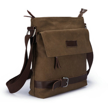 Новая мужская повседневная парусиновая сумка многоцелевой модные сумки офис одной сумки на плечо