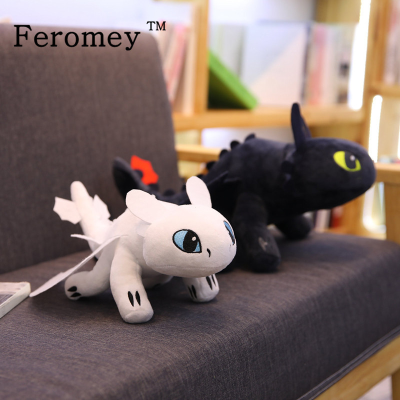 2019 New How To Train Your Dragon 3 Toothless Light Fury Night Fury Plush Doll Toys How To Train Your Dragon Anime Figures Toy