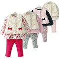 Newborn Baby Girl Clothes Set 3-Piece Faux-Fur Vest, Shirt & Pants Toddler/Infant's Princess Suit Winter Clothing Girls Wear