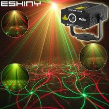 Eshiny mini 4in1 efeito padrão r & g estrela de áudio redemoinho projetor laser palco disco dj clube bar ktv festa de família mostrar luz p14