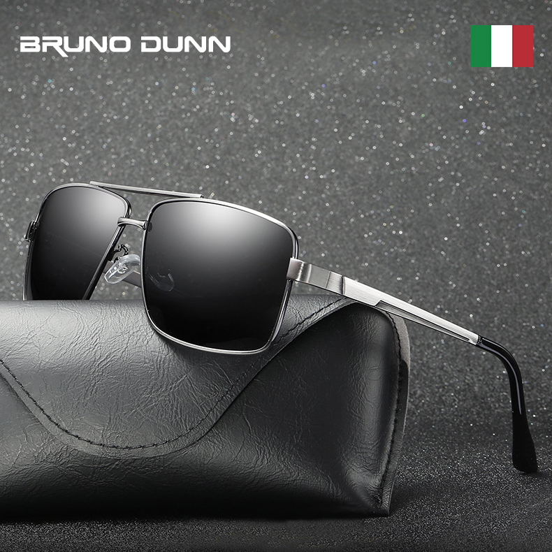 Bruno Dunn 2020 Sunglasses Polarized Men Brand square Sun Glasses for male Oculos de sol polarizado sunglases uv400 high quality(China)