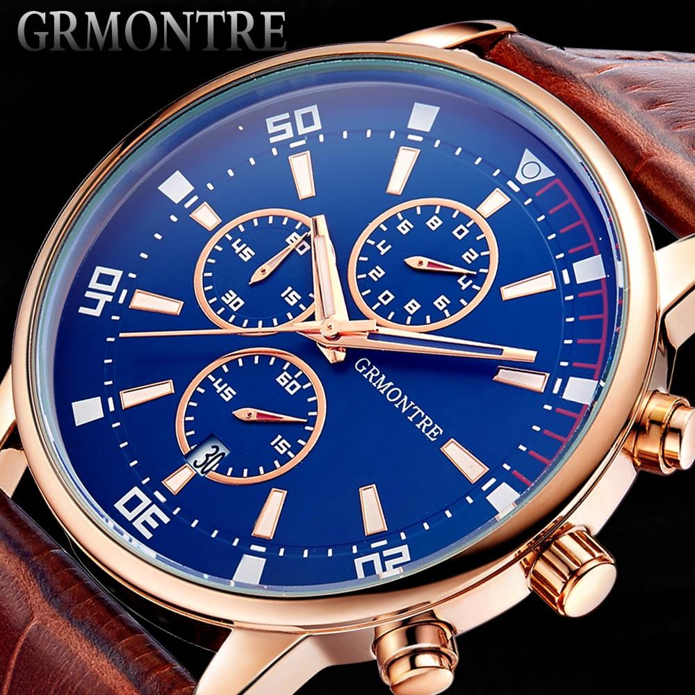 Reloj de pulsera para hombre cronógrafo reloj de marca GRMONTRE 2017 Nuevo  reloj militar deportivo resistente al agua reloj de moda de cuarzo relogo  masculi ... 4c0d8580b4c8