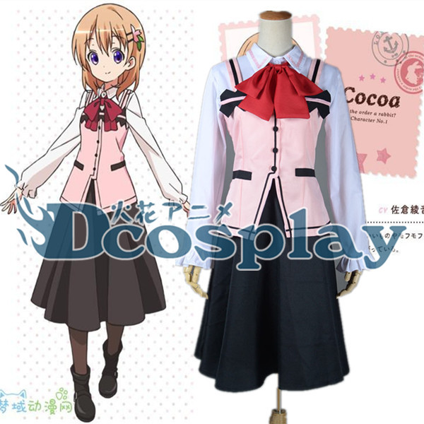 Waitress Halloween Costume poodle skirt adult Is The Order A Rabbit Gochiusa Cocoa Hoto Cos Cafe Waitress Suit Cosplay Costume Halloween Costume