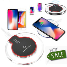 Fantasy Fast Qi Wireless Charger Charging Dock Pad For Samsung Galaxy S6 S7 edge S8 for Apple iPhone X 8 Plus Car Charge Crystal