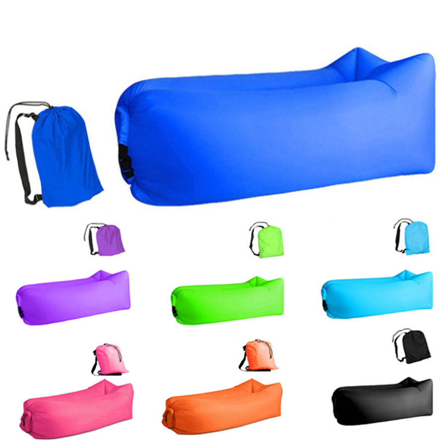 Aotu Light sleeping bag Waterproof Inflatable bag lazy sofa camping Sleeping bags air bed Adult Beach Lounge Chair Fast Folding