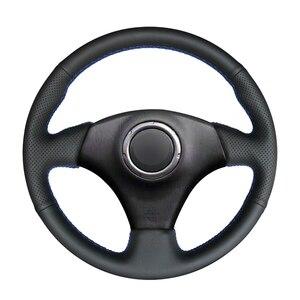 Image 1 - Couvre volant en cuir artificiel noir à coudre à la main pour Toyota RAV4 Celica Matrix MR2 Supra Voltz Caldina MR S Corolla