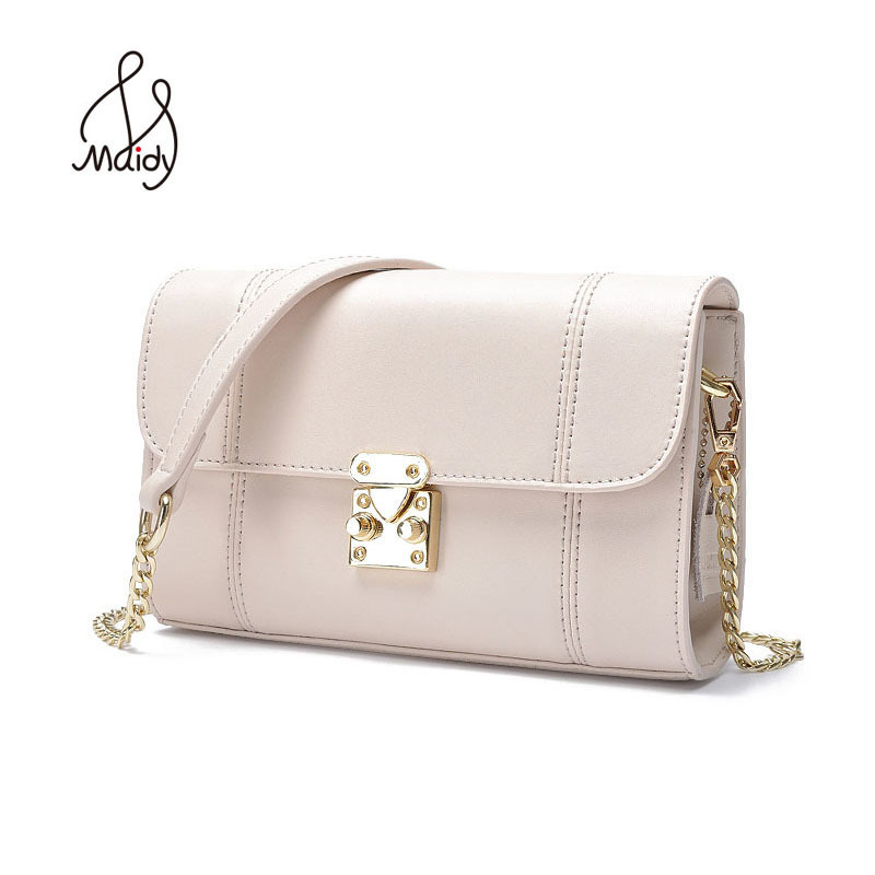 Maidy Famous Woman Shoulder Crossbody Handbags Envelope Bags Saffiano Leather Messenger Small Mini Flap Chains Lock