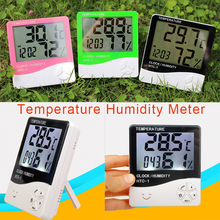 HTC-1 Digital Room LCD Thermometer Electronic Temperature Humidity Meter Hygrometer Weather Station Indoor Alarm Clock все цены