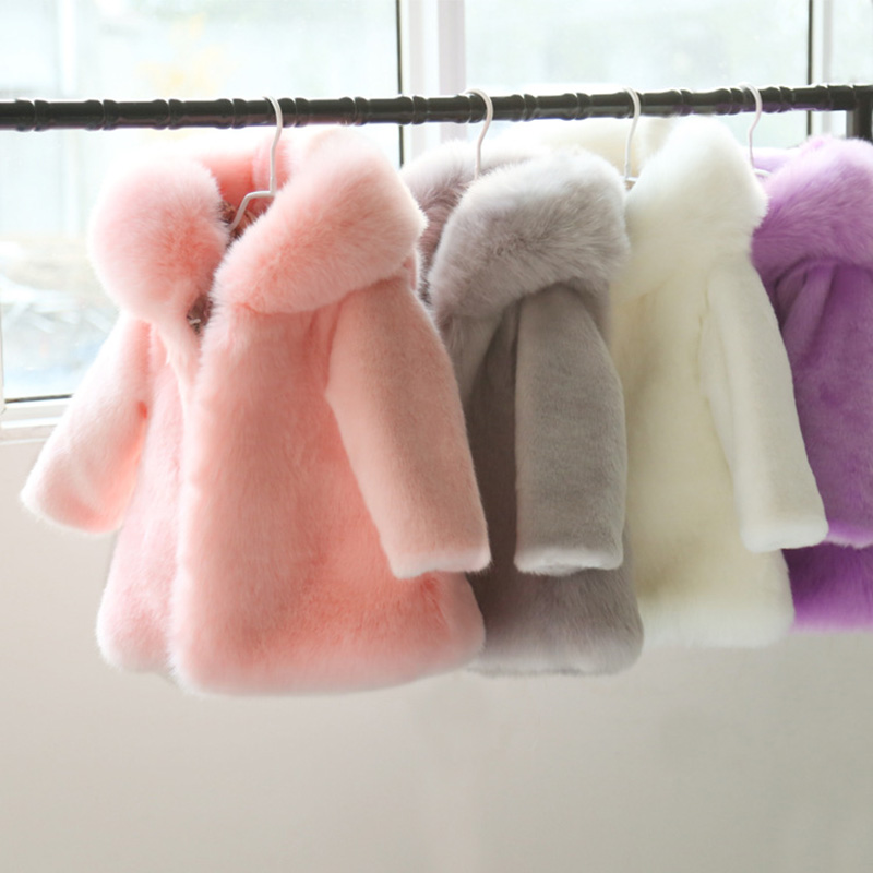 Winter baby tops clothes fashion color pink black Mink faux fur coats girls 2T 5T 10T thicken warm fur jackets for baby girls цена 2017