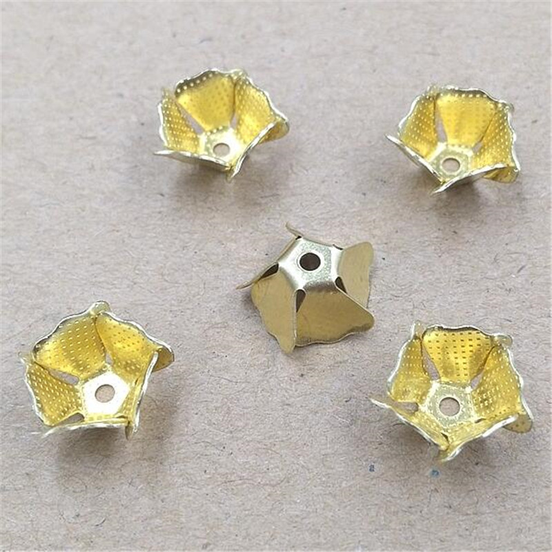 200pieces/lot Copper Vintage Flowers Slice 3Colors Charms Jewelry Making Components Findings B10017