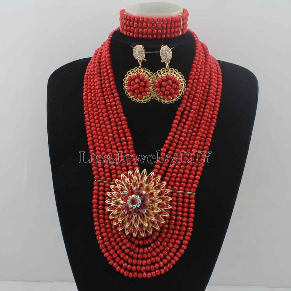 Charming Nigerian Wedding African Beads Bridal Jewelry Set Crystal Beads Jewelry Set Free Shipping HD6744Charming Nigerian Wedding African Beads Bridal Jewelry Set Crystal Beads Jewelry Set Free Shipping HD6744