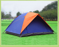 1.9KG Ultralight 2 Person Camping Tent Tourist Pole Fiberglass Outdoor Hiking Camping Folding Tent