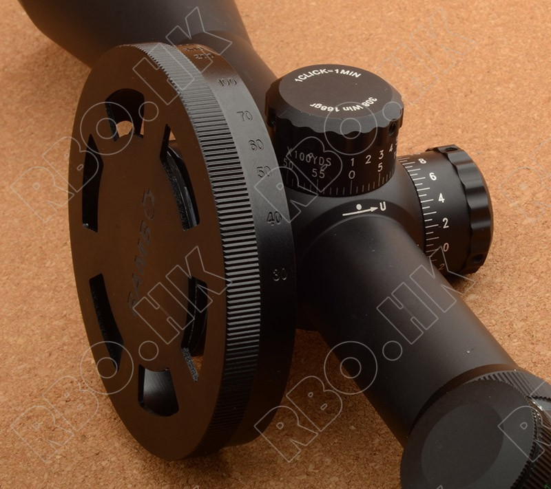 Aluminum Alloy Rifle Scope Side Focus Handwheel Rotation Torque Amplification 37mm Locking Ring
