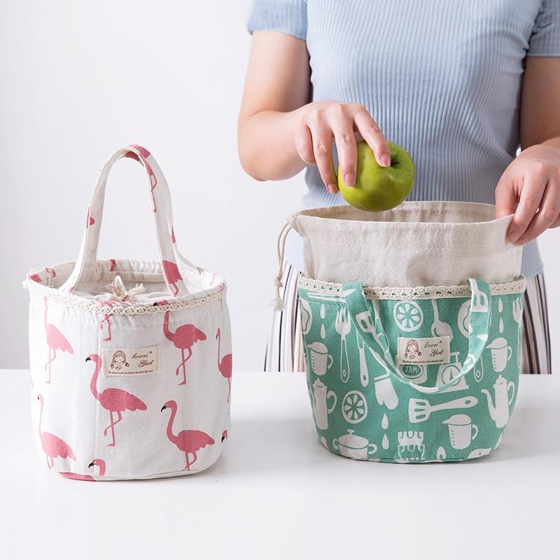 Panno Casa Scatola Di Pranzo Dimensioni Cintura Meal Bag Lunch Box Studente Borsa