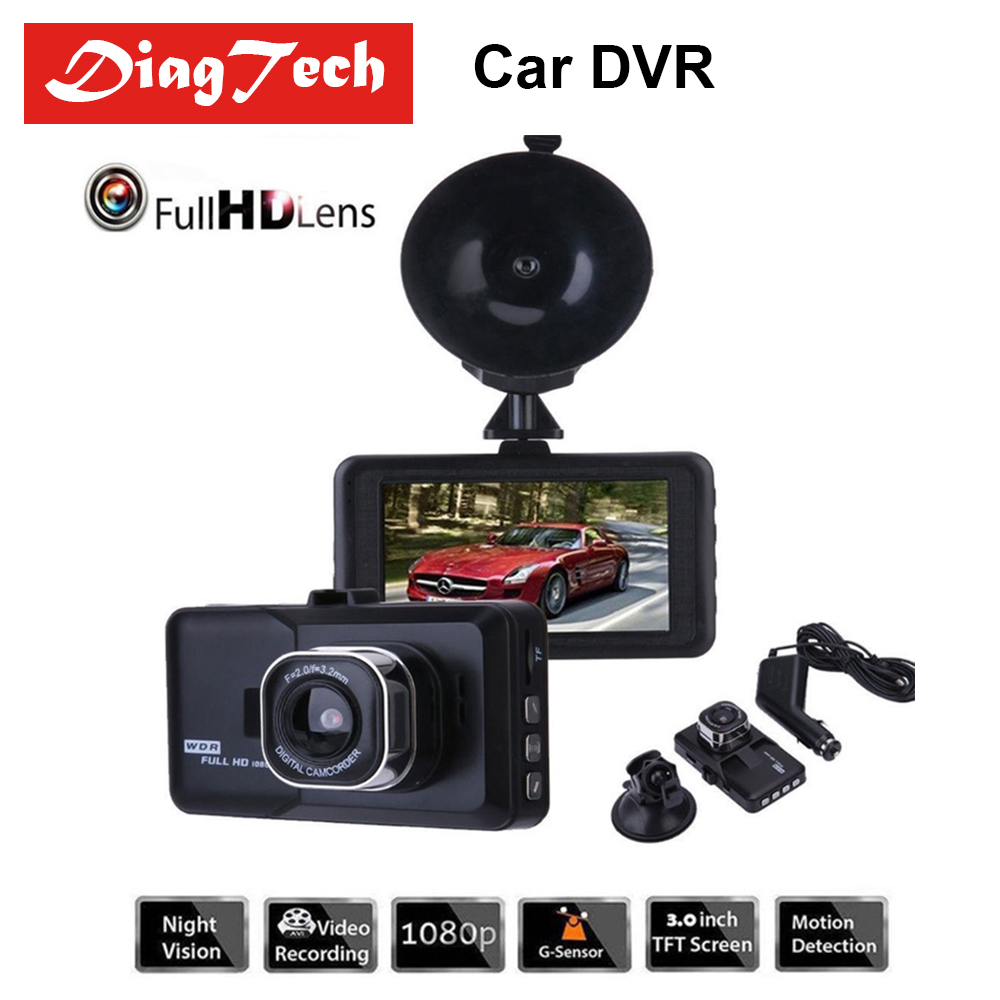 3.0 Inch Car Dash Camera Car DVR With 1080P Full HD Dash Cam Dual Lens Video Recorder Registrator Motion Detection Blackbox цена