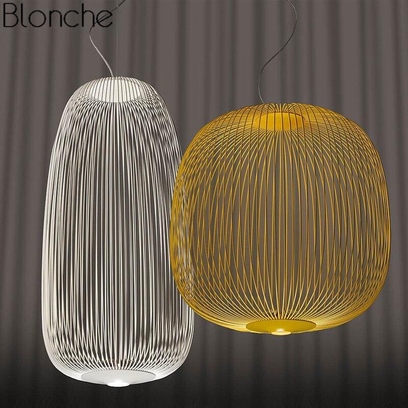 Foscarini Speichen 1/2 Anhänger Lichter Moderne Led Hängen Lampe Loft Industrie Vogel Käfig Suspension Leuchten Esszimmer Hause Decor