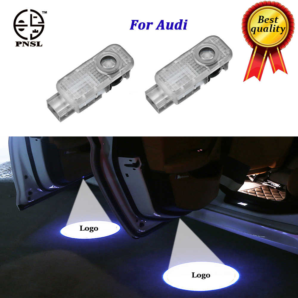 PNSL for Audi welcome Car Door light puddle CIRCLE Shadow LED Courtesy Lights Back light Car Styling Welcome lamp