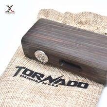 10ชิ้น/ล็อต100%เดิมวู้ดดี้บุหรี่อิเล็กทรอนิกส์75วัตต์สมัยกล่องชุดeบุหรี่ไม้ชุดที่มีจอแสดงผลOLED 18650แบตเตอรี่