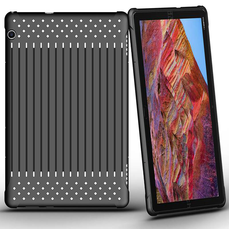 For Huawei Mediapad T5 New TPU+Plastic Case Fashion Openwork Stripes Radiating Breathable For Huawei Mediapad T5 Cover Cases