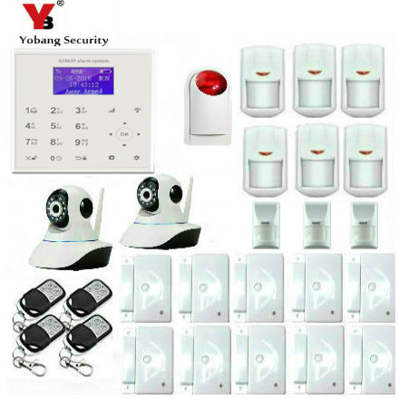 YobangSecurity WiFi GSM GPRS Burglar Alarm House Surveillance Home Security System With IP Camera Pet Friendly Immune Detector yobangsecurity home wifi gsm gprs rfid burglar alarm house business surveillance home security system wireless outdoor ip camera