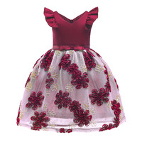 e304bbe396a818 Szyadeou Girl Dresses Baby Girls Princess Dress Bridesmaid Pageant Gown  Birthday Party Costumes Wedding Dress Sofia