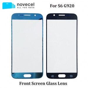 Image 1 - 10 개/몫 OEM / AAA 새로운 S6 G920 교체 전면 외부 화면 유리 렌즈 삼성 S6 터치 스크린 패널 디지타이저