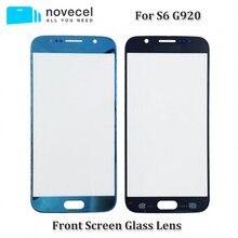 10 sztuk/partia OEM / AAA nowy S6 G920 wymiana przedni zewnętrzny ekran szklany obiektyw do Samsung S6 ekran dotykowy Panel Digitizer