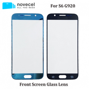 Image 1 - 10pcs/lot OEM / AAA New S6 G920 Replacement Front Outer Screen Glass Lens For Samsung S6 Touch Screen Panel Digitizer