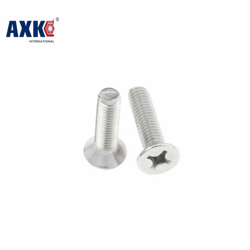 2018 Rushed Promotion Vis Screws For Laptops Parafuso Gb819 Stainless Steel 304 Flat Head Phillips Countersunk Machine Screw M1 25pcs 304 stainless steel countersunk head phillips screws phillips flat head screw m5 10