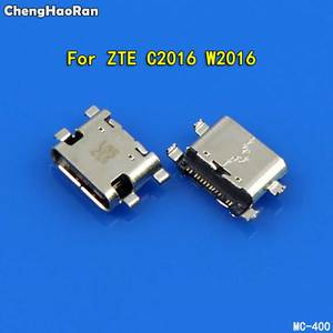 ChengHaoRan 1pcs Mini Type C Micro USB Jack Socket Connector For ZTE C2016 W2016 ZMAX Pro Z981 Charging Port Dock Plug
