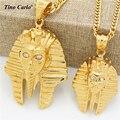 Tino Carlo Nuevos Hombres Joyas Africa África Collar de HipHop Heló Hacia Fuera Del Ojo Toalla corona Collar Faraón Tutankamón