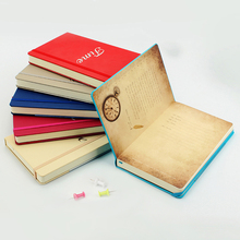 Portable notebook Leather surface A5 Business stationery Simple thickening color student Travel Notebook